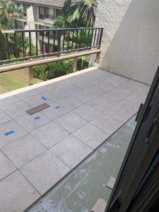 Lanai with tile