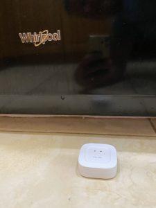 Leak detector by refrigerator